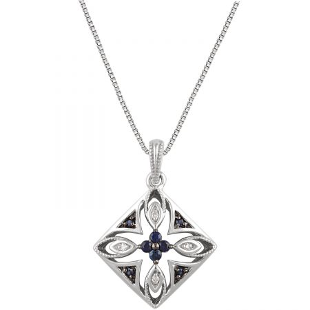 Sterling silver sapphire pend