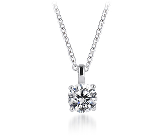 diamond products brilliant cut round shimansky solitaire pendant classic